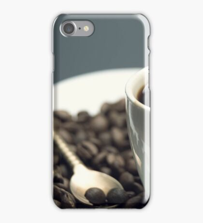 white Cup of black coffee  iPhone Case/Skin
