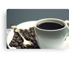 white Cup of black coffee  Canvas Print