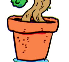 Tiny dancing bonsai man Sticker