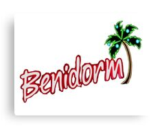 BENIDORM LOGO FROM POPULAR TV SERIES CULT BRITISH TV Canvas Print