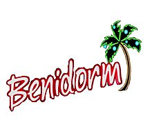 BENIDORM LOGO FROM POPULAR TV SERIES CULT BRITISH TV Photographic Print