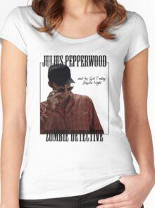 JULIUS PAPPERWOOD ZOMBIE DECTECTIVE Women's Fitted Scoop T-Shirt