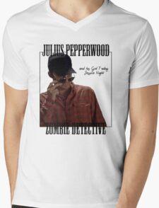 JULIUS PAPPERWOOD ZOMBIE DECTECTIVE Mens V-Neck T-Shirt