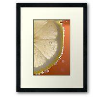 Bubbly Lemon - Orange Framed Print