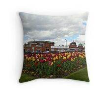 Tulips by the sea Throw Pillow