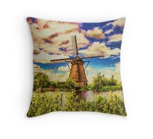 Rotterdam Windmill Throw Pillow