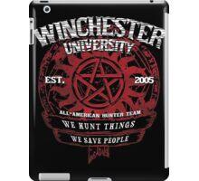 WE HUNT THINGS WE SAVE PEOPLE iPad Case/Skin