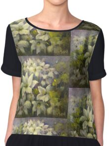 Floral tapestry Chiffon Top