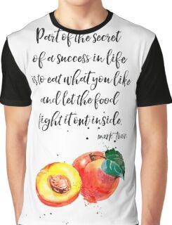 Mark Twain Peach quote Graphic T-Shirt