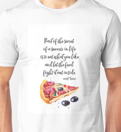 Mark Twain PIZZA quote Unisex T-Shirt