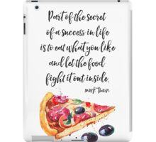 Mark Twain PIZZA quote iPad Case/Skin