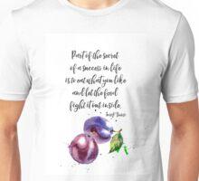 Mark Twain - about food PLUM Unisex T-Shirt