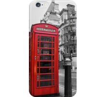 London bus red telephone iPhone Case/Skin