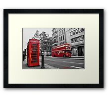 London bus red telephone Framed Print