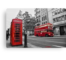 London bus red telephone Canvas Print