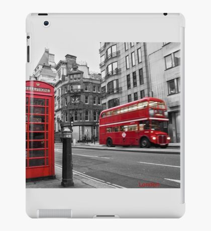 London bus red telephone iPad Case/Skin
