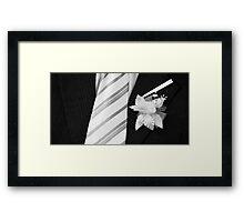 wedding groom suit and tie  Framed Print