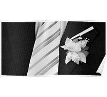wedding groom suit and tie  Poster