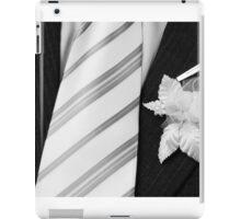 wedding groom suit and tie  iPad Case/Skin