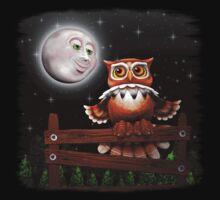 Surreal Owl and Moon Kids Tee