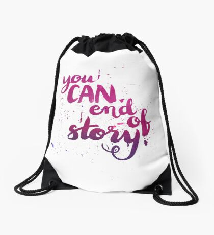 You can. End of story Drawstring Bag
