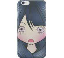 Dollhouse Girl Blue iPhone Case/Skin