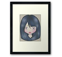 Dollhouse Girl Blue Framed Print
