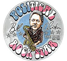 Bill Clinton Political Rock Star Photographic Print