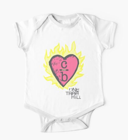 One tree hill- Burning Heart One Piece - Short Sleeve