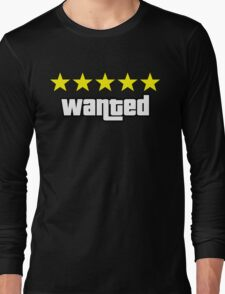 GTA - WANTED 5STARS (yellow) Long Sleeve T-Shirt