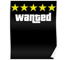 GTA - WANTED 5STARS (yellow) Poster