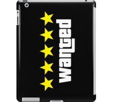 GTA - WANTED 5STARS (yellow) iPad Case/Skin