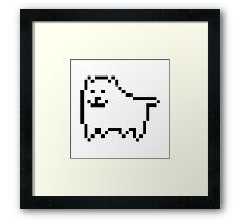 Undertale Annoying Dog Framed Print