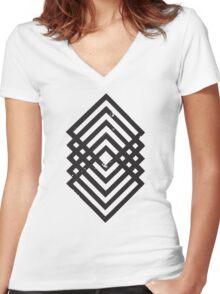 Geometric Diamonds 1 Women's Fitted V-Neck T-Shirt