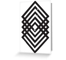 Geometric Diamonds 1 Greeting Card