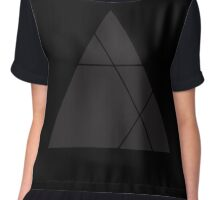 Geometric Triangle 1 Chiffon Top