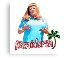 BENIDORM CULT BRITISH TV Canvas Print