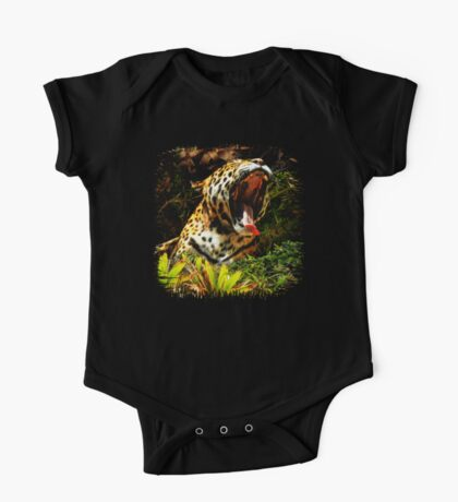 Jaguar Roar Yawn One Piece - Short Sleeve