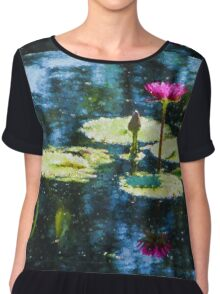 Waterlily Impressions - Dreaming of Monet Gardens Chiffon Top