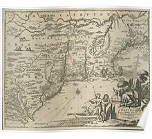 1600s Dutch Map of North America Poster
