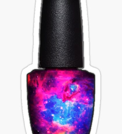 Galaxy nail polish Sticker