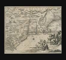 1600s Dutch Map of North America Baby Tee