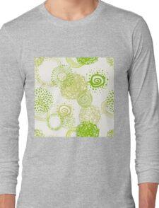 circles abstract seamless pattern Long Sleeve T-Shirt