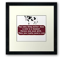 Amazing Cows Framed Print