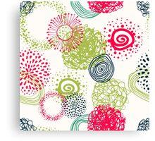 circles abstract seamless pattern Canvas Print