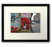 cool graffiti Framed Print