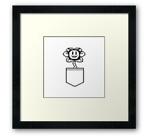 Undertale Pocket Flowey - Your Best Friend Flowey Framed Print