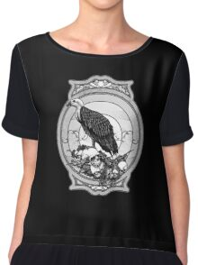 eagle skull Chiffon Top