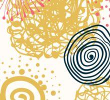 circles abstract seamless pattern  Sticker