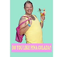 KEITH HAIRDRESSER BENIDORM PINA COLADA CULT BRITISH TV TONY MAUDSLEY Photographic Print